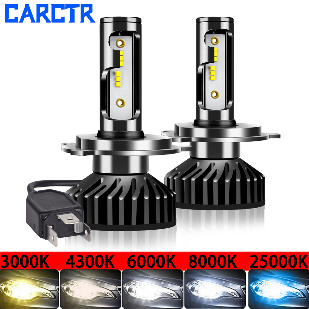 Mini Size Car Headlight H4 LED Lamp H7 3000K 4300K 5000K 6500K 8000K 25000K H1/8/9/11 9005 9006 30W LED Bulb Auto Fog Light 2PCS
