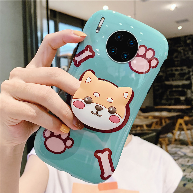 Cartoon Cute Kitten And Puppy Phone Case, Suitable For <font><b>Huawei</b></font> P40 P20 P30 <font><b>Pro</b></font> <font><b>Mate</b></font> <font><b>20</b></font> <font><b>Pro</b></font> NOVA3 Luxury Silicone Phone Back <font><b>Cover</b></font> image