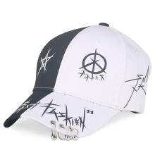Men's Women's Baseball Caps Fashion K Pop Tour Hat Mixed White Black Boys Hat with Ring Adjustable Snapback Cap 2019 Summer New