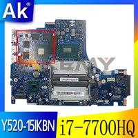 Placa base para ordenador portátil Lenovo Legion Y520, Y520-15IKBN, DY512, NM-B191, con i7-7700HQ, CPU, GTX 1050, GPU