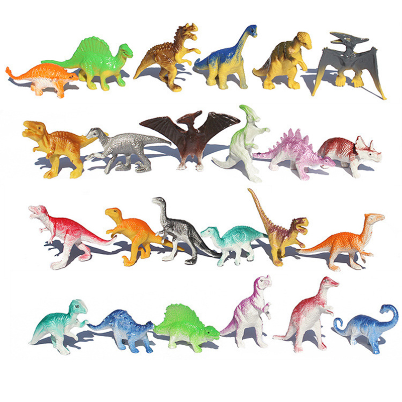 10pcs/lot Batch Mini Dinosaur Model Children's Educational Toys Cute Simulation Animal Small Figures For Boy Gift For Kids Toys