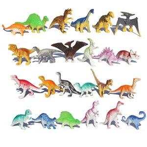 10pcs/lot Batch Mini Dinosaur Model Children's Educational Toys Cute Simulation Animal Small Figures For Boy Gift For Kids Toys