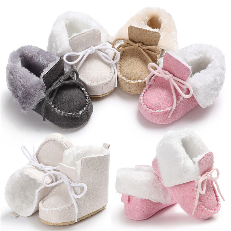 Winter Newborn Thick Warm Baby Boy Girl Suede Shoes First Walkers Unisex Infant Walking Shoes Sneakers For 0-18 Months
