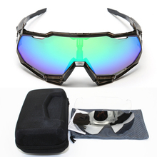 купить 2019 SL Brand Base Sports Bicycle Sunglasses Gafas ciclismo Cycling Glasses MTB Eyewear 3 lens UV400 Peter speed дешево