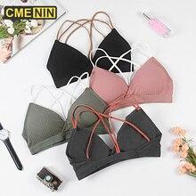 Women Tops Underwear Lingerie Bra Straps Seamless-Bra Bralette Cross Sexy Lady B0143