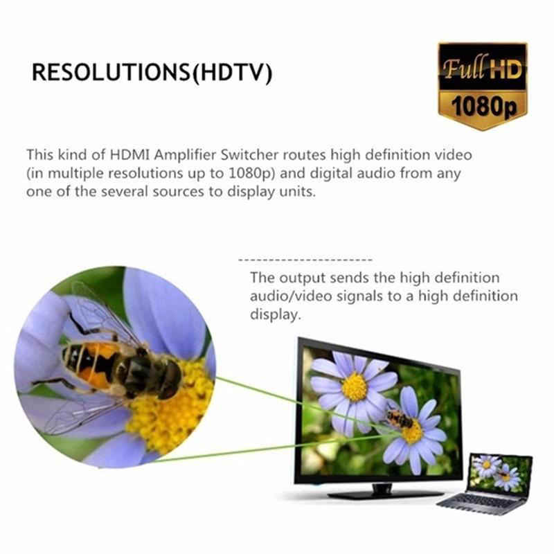 5 портов Hdmi селектор Splitter Switch Switcher 1080P видео аудио конвертер для Ps4 Xboxone монитор Пульт дистанционного управления