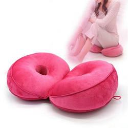 Многофункциональная двойная комфортная подушка для сиденья из пены памяти для бедер, подъемник сидения, красивая латексная подушка для