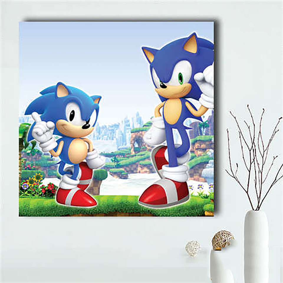 Wall Art Home Decoration Painting 1 Pcs Sonic The Hedgehog Game Hd Printed Modern Poster Canvas Frame Modular Picture For Gift Painting Calligraphy Aliexpress