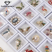 Fruitful 2020 Fashion Flamingo Animal Flower Rhinestone Brooch Natural Pearl Metal Brooch With Box Clothing Jewelry Accessories цена 2017