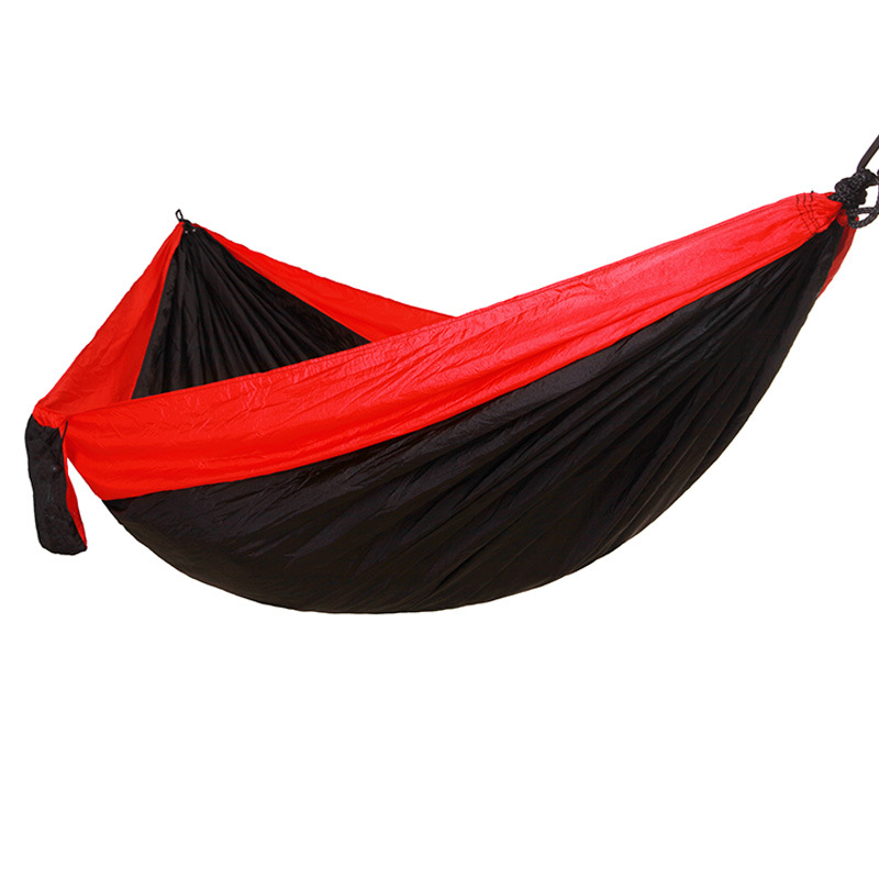 Europe And America Export Outdoor Parachute Cloth Hammock Camping Swing 275X140 Double Widened Camping Hammock