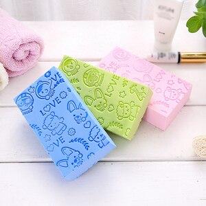 4 couleurs bébé bain éponge doux soins du corps nettoyage enfant bain brosses éponge coton frottant corps douche accessoires offre spéciale