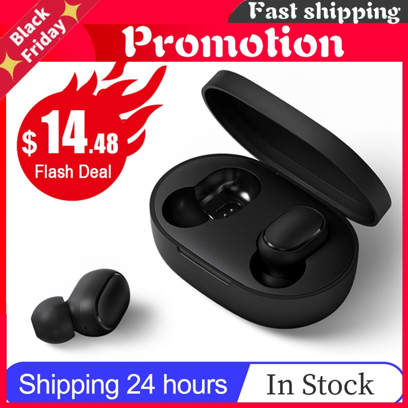 Redmi Airdots 2 Tws Wireless Bluetooth 5.0 Charging Earphone In-Ear Stereo Bass With Mic Ture Wireless Earbuds Ai Control