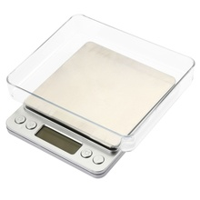 2000g/0.1g Digital Kitchen Scale Cooking Measure Tools Stainless Steel Electronic Weight LCD Bench Food Weighing Scale