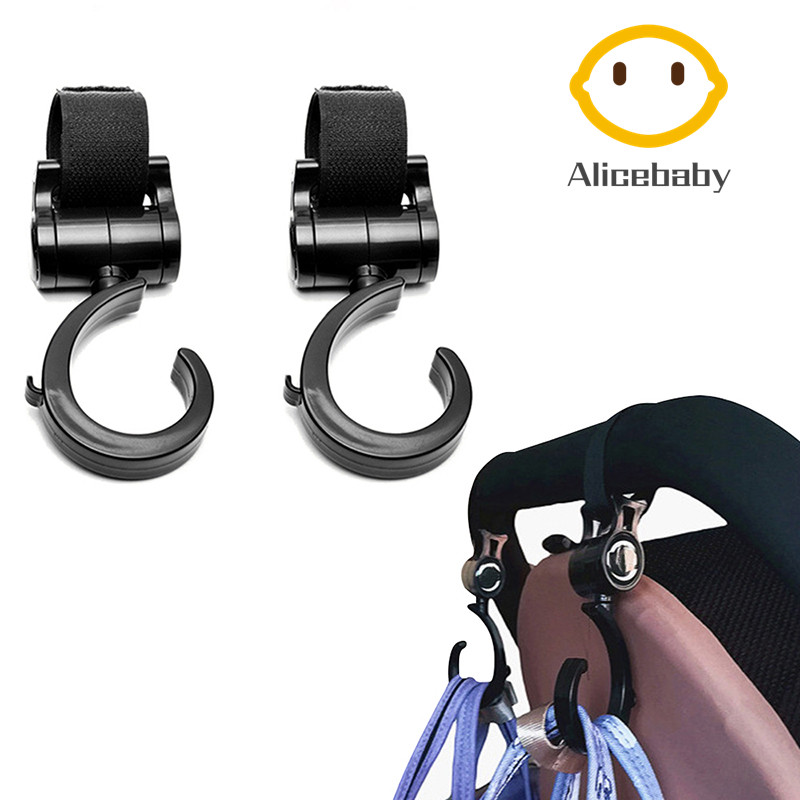 2Pcs Multi Purpose Stroller Hook Baby Diaper Bags Hanger Groceries Clothing Hooks Great Accessory For Mommy