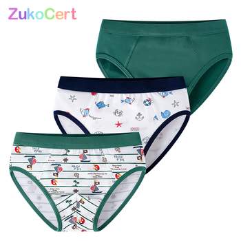 3 Pcs/lot Kids Boxer Briefs For Children Panties Boys Underwear Soft Cartoon Pattern Teenager Shorts Pants For 2-10Years Old