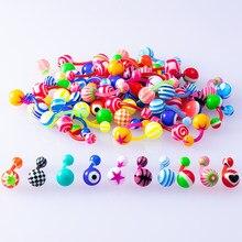 Anel de umbigo acrílico colorido, 10/peças de barra para barriga, barriga, anéis de botão, sexy, barra feminina piercing do corpo do ombligo, joias