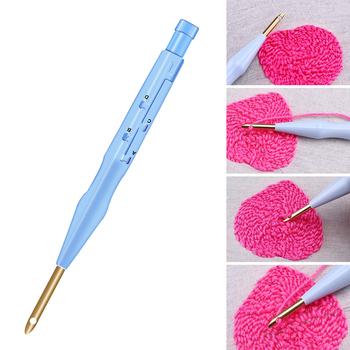 Miesie 1 sztuk plastikowe Punch Needle haft zestaw długopisów regulowany Punch Needle narzędzie tkackie wymienne Punch Needle tanie i dobre opinie Wielu zdjęć CN (pochodzenie) Stałe Składane Bawełna Pełna haft Duszpasterska PAPER BAG Magic Embroidery Pen Embroidery Tool DIY