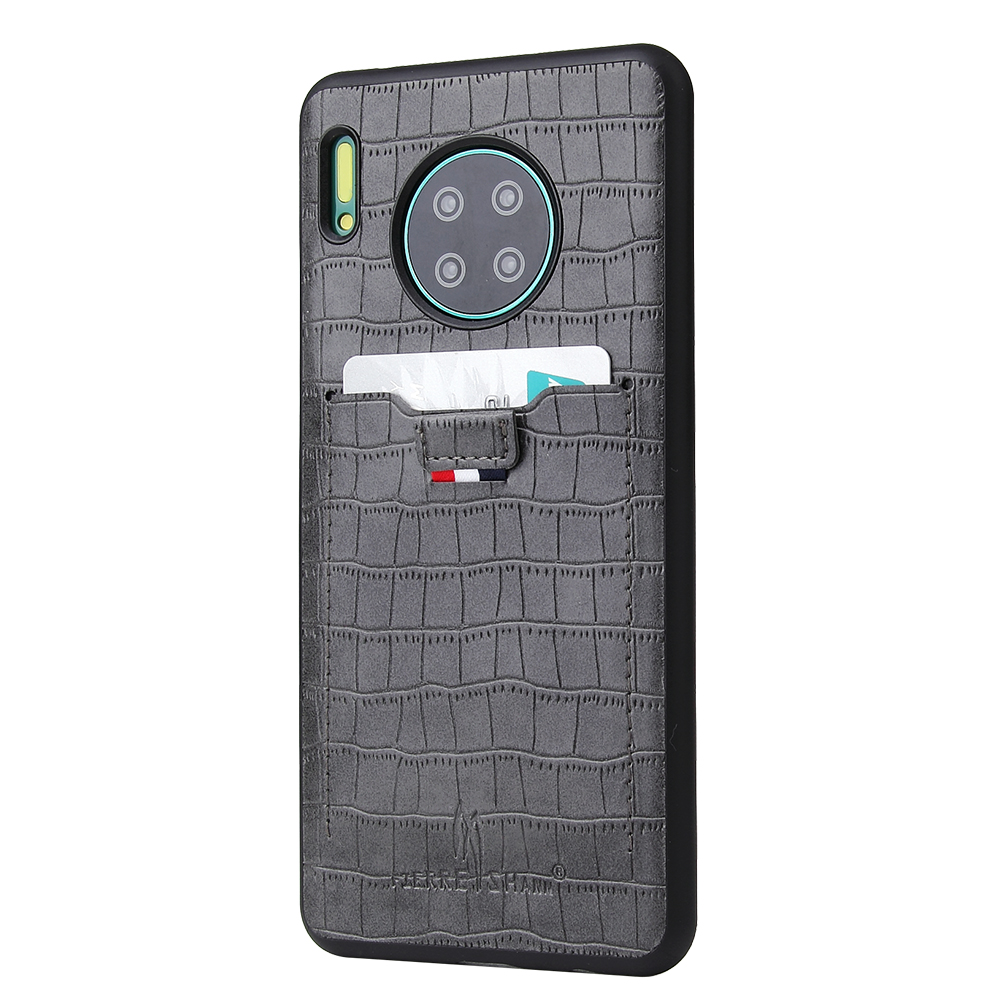 Luxury Crocodile Skin Pattern Case Card Slot PU Leather Back Cover Protective Case For Huawei Mate 30 Mate30 Pro Accessories