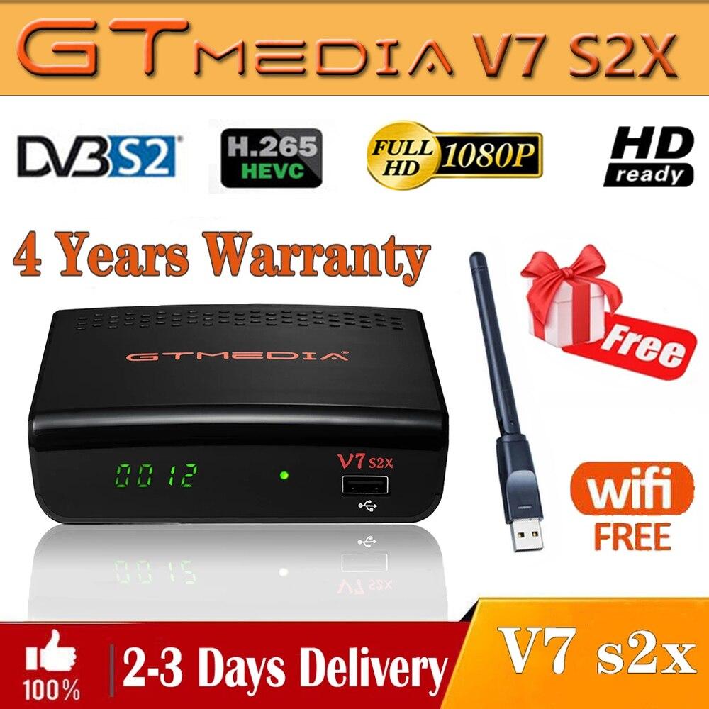 DVB-S/S2 Gtmedia V7 S2X-цифра спутниковый телевизионный ресивер обновлен GTmedia V7S HD с USB WI-FI цифровой приемное устройство H.265 Freesat v7s2x нет приложения