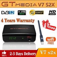 Gtmedia-Receptor satélite V7 S2X, DVB-S/S2, actualizado por GTmedia V7S HD con Receptor Digital de WIFI USB H.265, Freesat v7s2x, sin aplicación