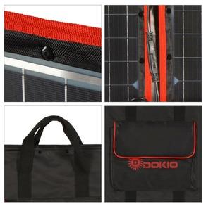 Image 5 - Dokio 80W (40*2pcs) 18V 유연한 접이식 태양 전지 패널 + 12V/24V 태양 컨트롤러 캠핑/여행에 대 한 휴대용 태양 전지 패널