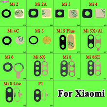 cltgxdd 1pcs Rear back camera glass lens for Xiaomi 2 2A 3 4 5 5X 6 6X plus Mi A1 8 SE lite with Adhesive Sticker(China)
