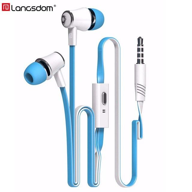 Langsdom Mijiaer JM21 w ucho słuchawki na telefon iPhone Huawei Xiaomi słuchawki przewodowe słuchawki douszne słuchawki fone de ouvido