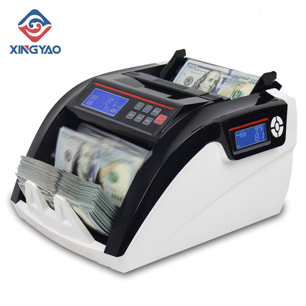 5800D UV/3MG LCD Display With 3 Magnet  Multi-Currencies Counting Machine Cash Money Counting  Compteuse De Billets