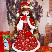 Allaosify 1/3 doll dress 60 cm BJD doll dress 1/3 Christmas dress