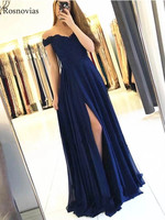 Navy Blue Long Bridesmaid Dresses 2020 Off Shoulder Lace Top Wedding Guest Dresses Maid Of Honor Gowns Wedding Party Dress