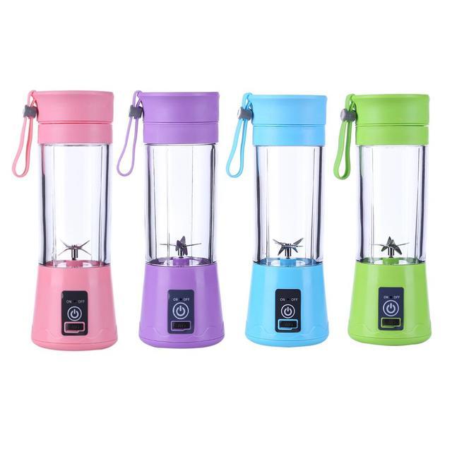 380ml Portable Blender 6 Blades Mini USB Rechargeable Portable Electric Fruit Juicer Smoothie Maker Blender Juice Machine Cups