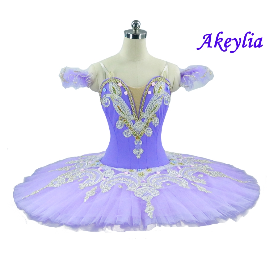 Sleeping Beauty Professional Ballet Tutu Lilac for Women Adult Purple Performance Platter Ballet Stage Costume Child