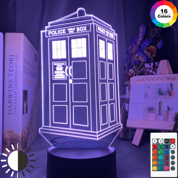 Doctor Who 16 Colours Tardis Lamp  1