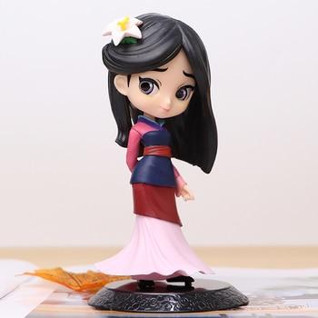 mulan level 6 2020 Hot 14cm Q Posket Princess Mulan Figure Model Toys Cake Figure Animation Beauty Model Dolls Gifts for Girls