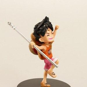 Image 5 - 3 pezzi/set anime artista infanzia Rufy Ace Saab tre fratelli bambola PVC collection modello giocattolo della decorazione della casa regalo di compleanno