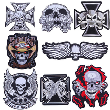 Embroidery Patches Biker Motorcycle Huge Large Badge Jacket Skull-Wing for Back Punk