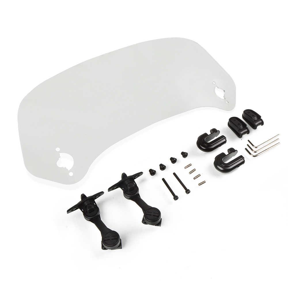 Le pare-brise réglable de pare-brise de moto a augmenté le déflecteur d'air pour Honda dio cb400 frelon ombre cbr steed KTM Hyosung