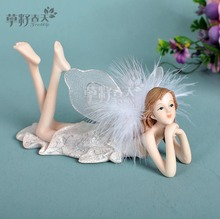 Fairy garden european angel resin pendulum  home decoration accessories modern rustic decor wedding holiday gift