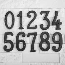 Metalowe cyfrowe numery obsada żelazny dom znak Doorplate DIY Cafe dekoracje ścienne