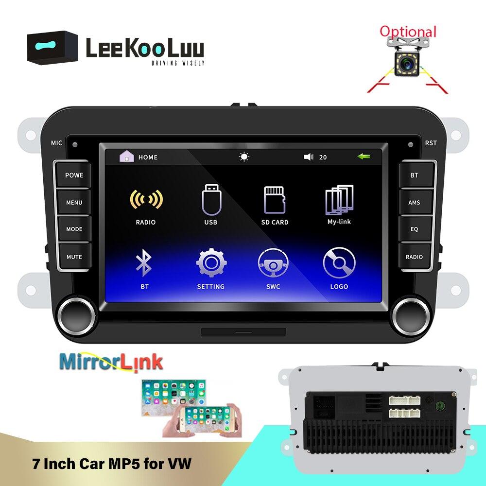 Autoradio multimédia LeeKooLuu Double Din DVD Automotivo pour Volkswagen Skoda Octavia Golf Touran Passat Jetta Polo Tiguan 2Din