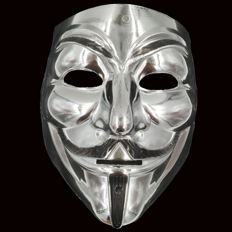 Используется для маскарада вечерние карнавалов Хэллоуин костюм вечерние марта протеста Горячая V Маска Вендетта золото/серебро