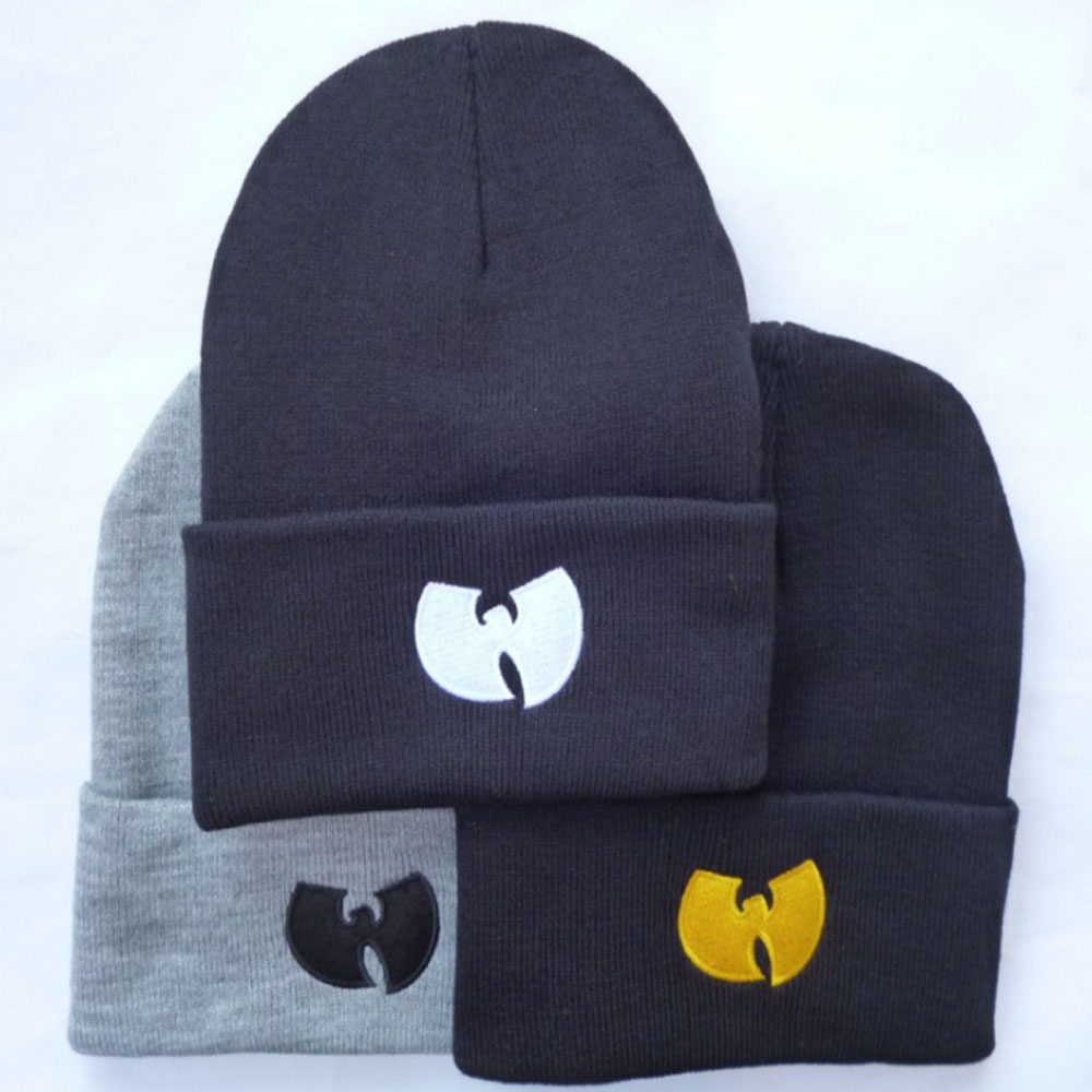 3 Colors Women Cap With WU TANG CLAN Warm Winter Hats For Women Men Beanie Knitting Wool Hip-Hop Hat Male Gorros De Lana