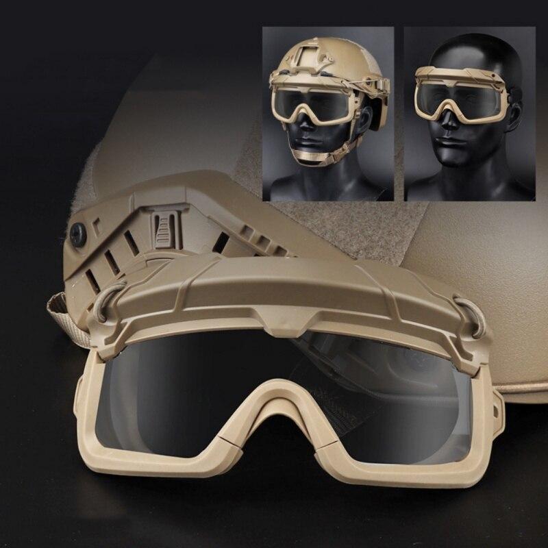 Страйкбольные охотничьи очки, очки для стрельбы, ветрозащитные очки Wargame, шлем, очки для пейнтбола, защитные очки для глаз - 1