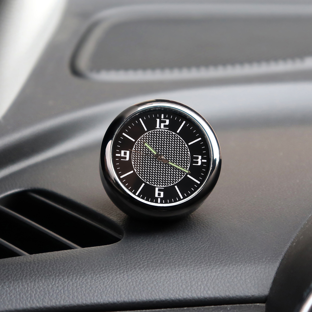 1Pcs Car Clock Auto <font><b>Accessories</b></font> Dashboard interior Decoration For <font><b>Toyota</b></font> Avensis Yaris Auris Hilux Camry CHR <font><b>Prado</b></font> Corolla Rav4 image