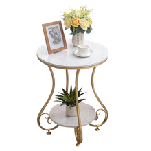 Marble Round Coffee Table with Two Layer for Living Room Tea Table mesa de centro beistelltisch mesa auxiliar