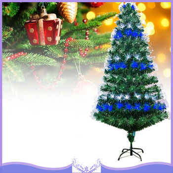 120/150/180/210CM EU Plug Artificial Christmas Tree Fiber Optic Light Christmas Tree Decorations Xmas Tree Party Fast Delivery