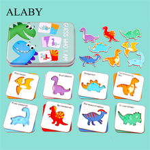 Toys Puzzle-Cards Learning-Flashcard Educational-Toy Game Animal Matching English Baby