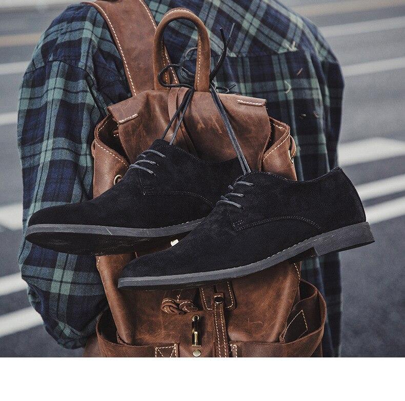 Hba5eeb0399f84b0c8804446af06698e1o Merkmak Fashion England Trend Casual Shoes Men Flock Oxford Wedding Leather Dress Men Flats Waterproof Men Shoes Plus Siz