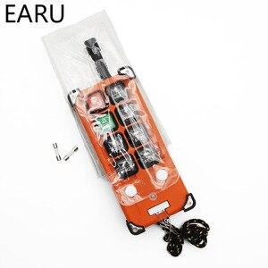Image 4 - 220V 380V 110V 12V 24V przemysłowe przełączniki zdalnego sterowania dźwig dźwig dźwigu 1 nadajnik + 1 odbiornik F21 E1B