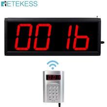 Retekess convidado de chamada sem fio, sistema de remoção de chamadas, restaurantes, pagamentos, 1 transmissor de teclado + 1 host com controle de pc f4410d